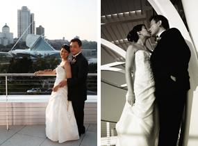 Wedding photos taken at Pier Wisconsin