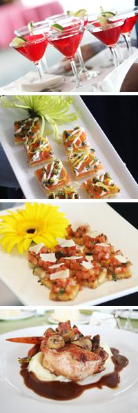 Photos of wedding food